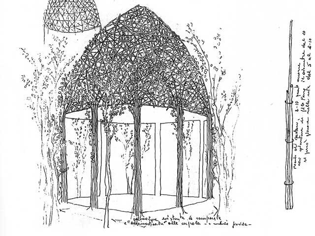 Disegni per una Cupola Vegetale a Freising
